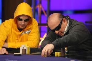 Phil Laak al tavolo col nostro Giovanni Safina