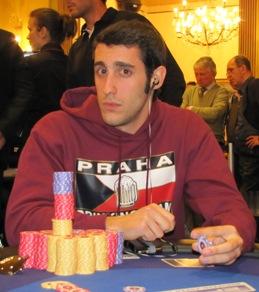 Massimo Valentini, chipleader assoluto a fine day 2
