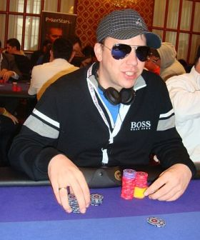 Kevin MacPhee durante il day 2 all'EPT Sanremo