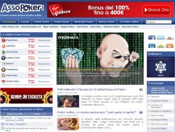 L'home page di AssoPoker, familiare a molti di noi...