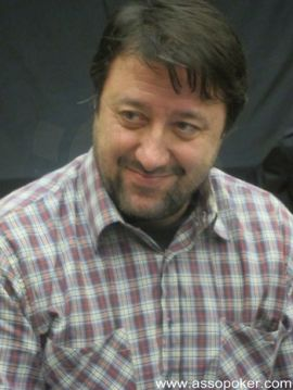 Fabio Mangano, chipleader della giornata di oggi