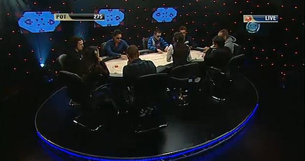 Un momento del tavolo televisivo dell'IPT Campione High Stakes