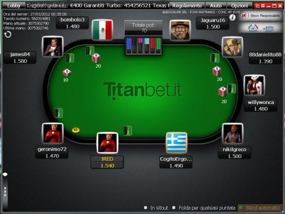 titan poker codice bonus