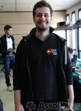 Massimiliano Martinez il giorno dell'ingaggio da parte di PokerStars: era il 27 marzo scorso