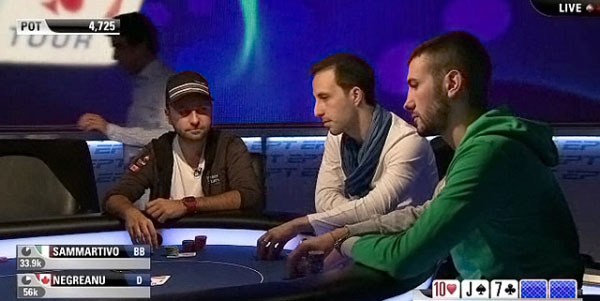 Dario al tavolo dell'EPT Grand Final con Daniel Negreanu e Alec Torelli