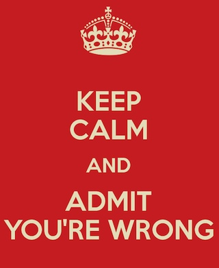 Ammettere i propri errori è indispensabile per migliorarsi