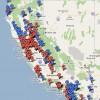 La mappa delle card rooms e dei casinò in California