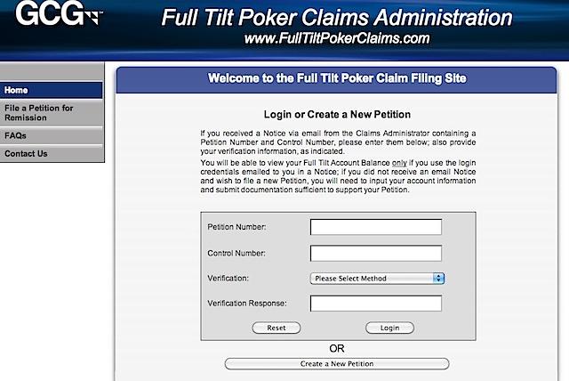 Full tilt poker account login