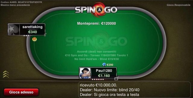 Poker spin and go