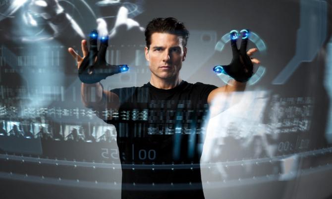 Tom Cruise in una scena del film 'Minority Report' di Steven Spielberg