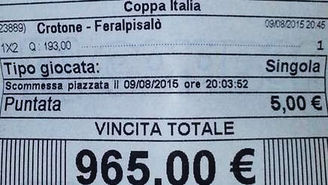 Goldbet verifica vincita