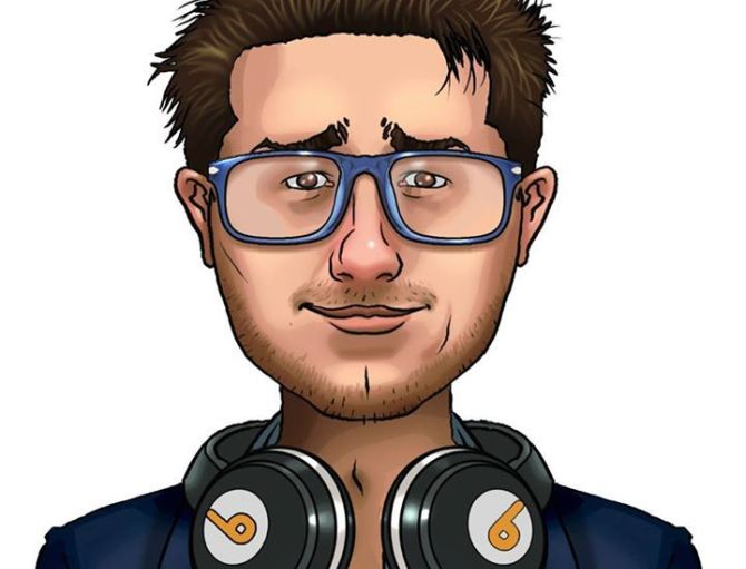 La caricatura del coach di Pokermagia Simone Ruggeri