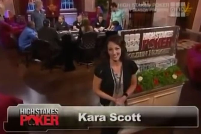 Kara Scott al suo esordio in High Stakes Poker