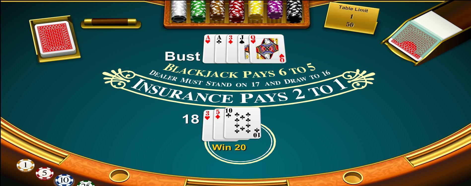 blackjack 6 5 copertina