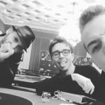 Andrea Crobu, qua con Alessandro Borsa e Mario Perati