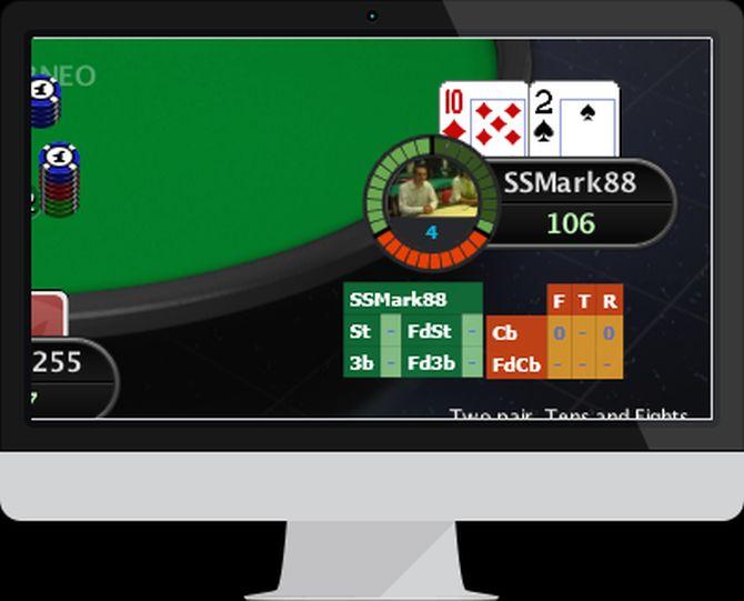 L'interfaccia grafica di Poker4Tuna