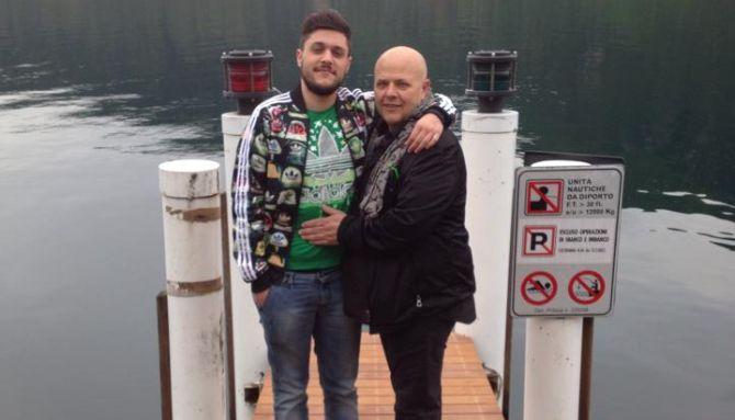 Umberto Calabrese, qua con il padre