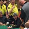 Cory Cunningham poco prima di essere prelevato dal tavolo