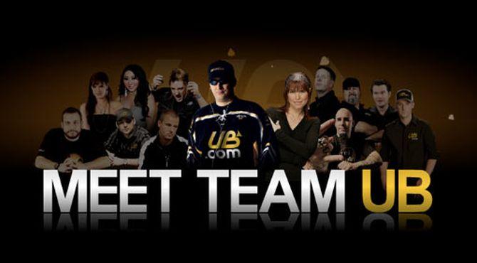Una vecchia immagine del team di Ultimate Bet, di cui JohnnyBax fece parte per poco tempo