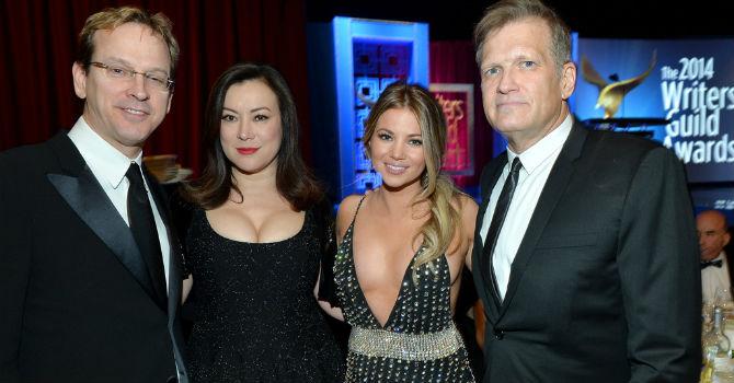 Phil Laak e Jennifer Tilly ai Writer Guild Awards 2014