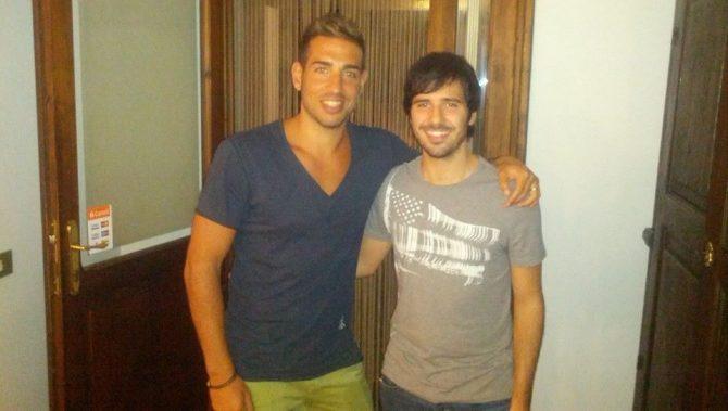 Andrea Degli Angioli, qua con Emiliano Conti