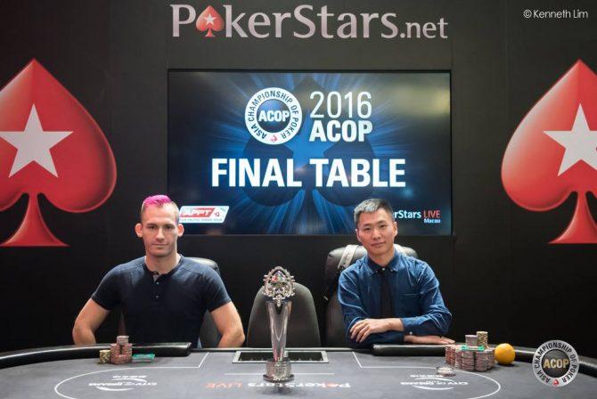 Justin Bonomo e Yuan Li (courtesy Kenneth Lim/Pokerstars)