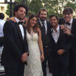 Jason Mercier e Natasha Barbour sposini felici. A sinistra Salman Behnehani, a destra Walter Treccarichi e Mustapha Kanit
