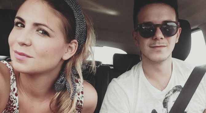 Luca con la fidanzata-grinder Angela Del Re