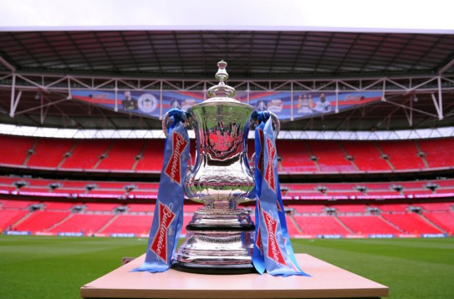 LONDON, ENGLAND - MAY 11:  The trophy on display ahead of the FA Cup with Budweiser Final match between Manchester City and Wigan Athletic at Wembley Stadium on May 11, 2013 in London, England.  (Photo by Michael Regan - The FA/The FA via Getty Images)
