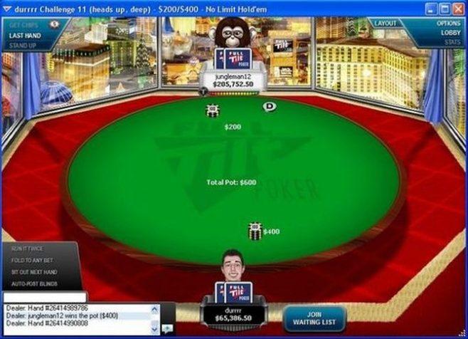 Una vecchia immagine del durrrr challenge su Full Tilt Poker