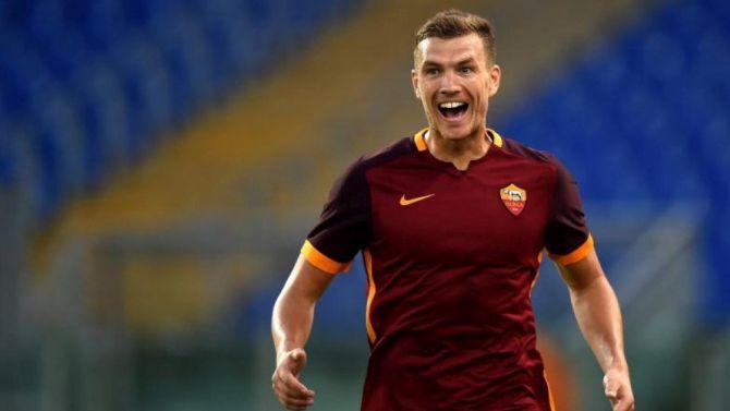 Edin Dzeko ha segnato il goal che ha deciso Roma-Cagliari