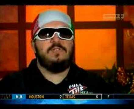 Max durante una video intervista all'Aussie Millions 2008