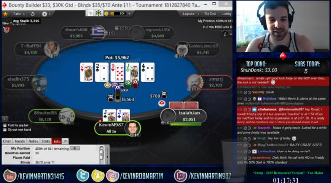 Uno dei sette poker centrati da Kevin Martin