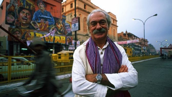 Tiziano Terzani, qui in India (Terzani a Delhi, 1995 © Massimo Pacifico)
