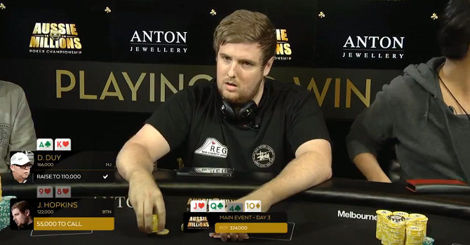James Hopkins Aussie Millions 2018