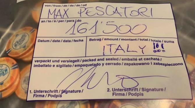 WSOP Europe Max Pescatori stack