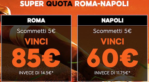 super quota Roma-napoli