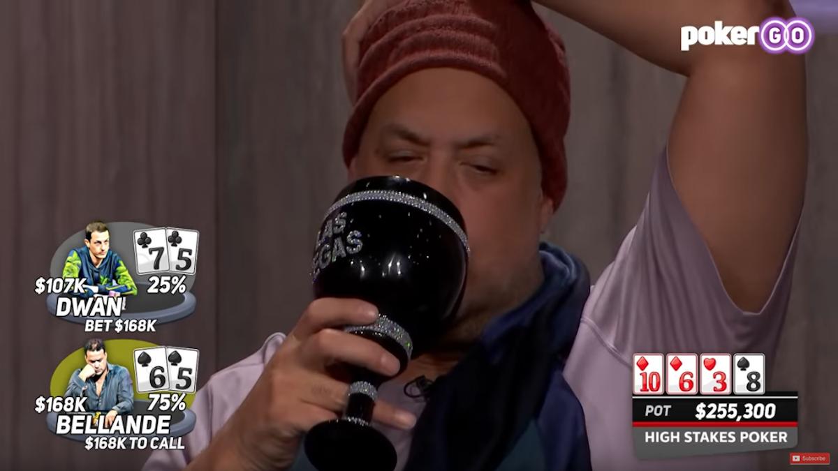 Bellande e il suo sobrio bicchiere