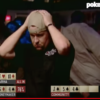 Moneymaker un attimo prima della vittoria
