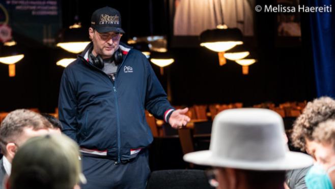 Phil Helllmuth Courtesy Pokernews $ Melissa Haereiti